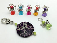 Rainbow Angels Stitch Marker Set with Holder , Stitch Markers - Jill's Beaded Knit Bits, Jill's Beaded Knit Bits  - 6