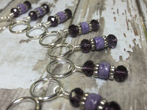 Happy Cat Stitch Marker Set , Stitch Markers - Jill's Beaded Knit Bits, Jill's Beaded Knit Bits  - 6