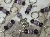 Happy Cat Stitch Marker Set , Stitch Markers - Jill's Beaded Knit Bits, Jill's Beaded Knit Bits  - 4