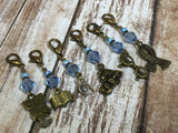 Harry Potter Themed Stitch Marker Set , Stitch Markers - Jill's Beaded Knit Bits, Jill's Beaded Knit Bits  - 1