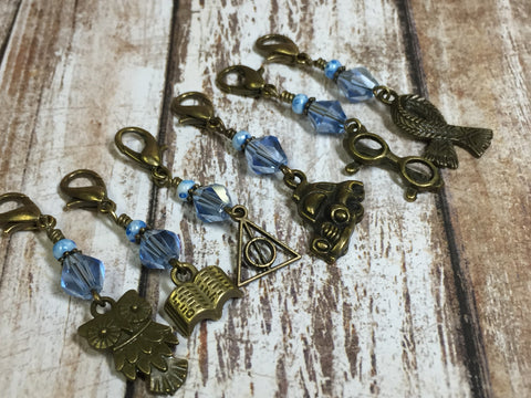 Harry Potter Themed Stitch Marker Set , Stitch Markers - Jill's Beaded Knit Bits, Jill's Beaded Knit Bits  - 2
