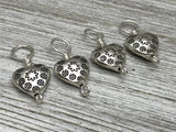 Silver Hearts Stitch Markers on Sterling Silver Filled Wire | Gifts for Knitters