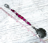 Bright Pink Beaded Yarn Cutter Fob