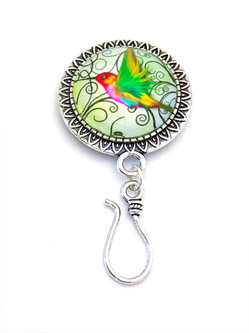 MAGNETIC Hummingbird Portuguese Knitting Pin