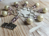 I Love Knitting Stitch Marker Set , Stitch Markers - Jill's Beaded Knit Bits, Jill's Beaded Knit Bits  - 4