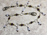 Chain Style Row Counter- Wine/Olive , Stitch Markers - Jill's Beaded Knit Bits, Jill's Beaded Knit Bits  - 3
