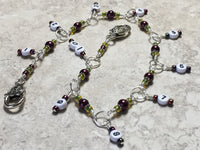 Chain Style Row Counter- Wine/Olive , Stitch Markers - Jill's Beaded Knit Bits, Jill's Beaded Knit Bits  - 4