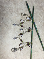 Chain Style Row Counter- Wine/Olive , Stitch Markers - Jill's Beaded Knit Bits, Jill's Beaded Knit Bits  - 5