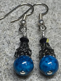 Dark Aqua River Stone Earrings , jewelry - Jill's Beaded Knit Bits, Jill's Beaded Knit Bits  - 7