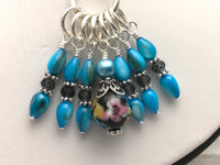 Owl Stitch Marker Necklace | Portuguese Knitting Yarn Holder