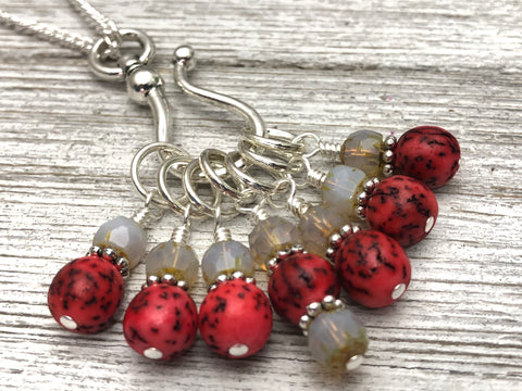 Sugar Skull Stitch Marker Necklace
