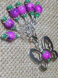 Beaded Butterfly Stitch Marker Set-Pink , Stitch Markers - Jill's Beaded Knit Bits, Jill's Beaded Knit Bits  - 3