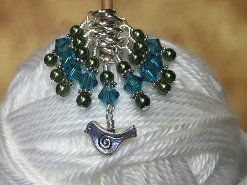 Swirly Bird Snag Free Stitch Marker Set , Stitch Markers - Jill's Beaded Knit Bits, Jill's Beaded Knit Bits  - 4