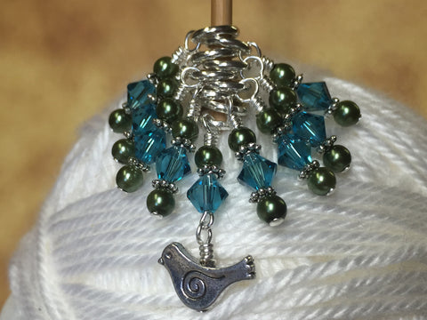 Swirly Bird Snag Free Stitch Marker Set