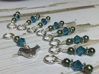 Swirly Bird Snag Free Stitch Marker Set , Stitch Markers - Jill's Beaded Knit Bits, Jill's Beaded Knit Bits  - 2