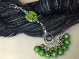 Speckled Knitting Bag Lanyard for Stitch Markers , Stitch Markers - Jill's Beaded Knit Bits, Jill's Beaded Knit Bits  - 5