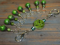Speckled Knitting Bag Lanyard for Stitch Markers , Stitch Markers - Jill's Beaded Knit Bits, Jill's Beaded Knit Bits  - 8