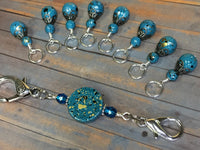 Speckled Knitting Bag Lanyard for Stitch Markers , Stitch Markers - Jill's Beaded Knit Bits, Jill's Beaded Knit Bits  - 11