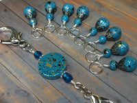 Speckled Knitting Bag Lanyard for Stitch Markers , Stitch Markers - Jill's Beaded Knit Bits, Jill's Beaded Knit Bits  - 12