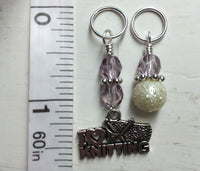 I Love Knitting Stitch Marker Set , Stitch Markers - Jill's Beaded Knit Bits, Jill's Beaded Knit Bits  - 5
