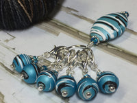 Ice Blue Crochet Stitch Marker Set , Stitch Markers - Jill's Beaded Knit Bits, Jill's Beaded Knit Bits  - 7