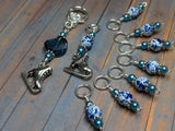 Ice Skate Stitch Marker Set with Clip Holder , Stitch Markers - Jill's Beaded Knit Bits, Jill's Beaded Knit Bits  - 8