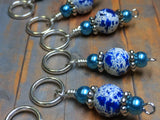 Ice Skate Stitch Marker Set with Clip Holder , Stitch Markers - Jill's Beaded Knit Bits, Jill's Beaded Knit Bits  - 5