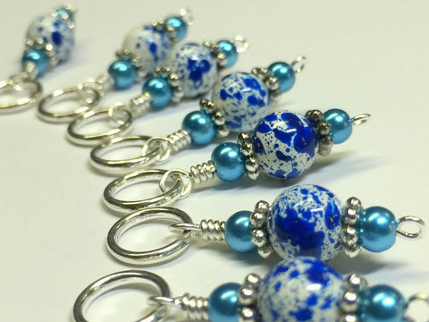 Ice Skate Stitch Marker Set with Clip Holder , Stitch Markers - Jill's Beaded Knit Bits, Jill's Beaded Knit Bits  - 10