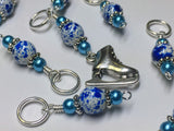 Ice Skate Stitch Marker Set with Clip Holder , Stitch Markers - Jill's Beaded Knit Bits, Jill's Beaded Knit Bits  - 3