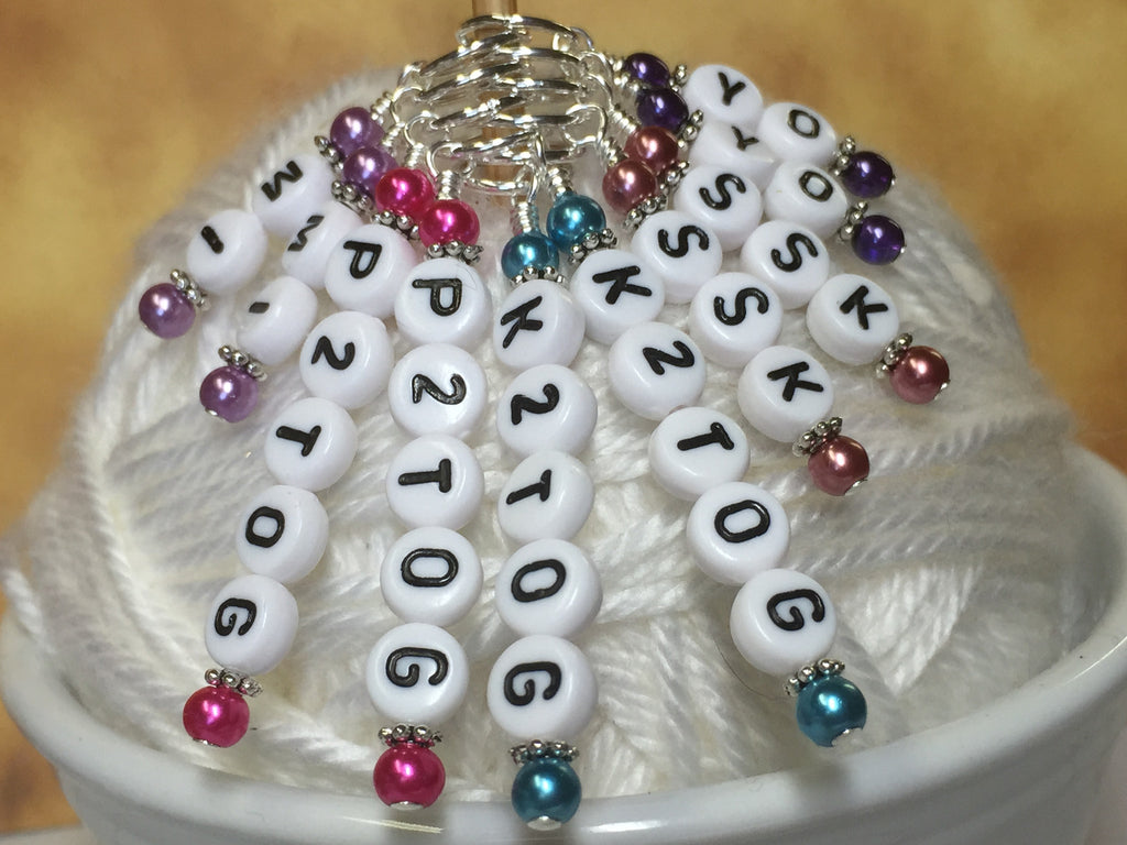 Increase & Decrease Stitch Marker Set , Stitch Markers - Jill's Beaded Knit Bits, Jill's Beaded Knit Bits  - 1