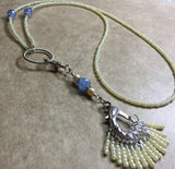 Ivory & Blue Stitch Marker Necklace Set , jewelry - Jill's Beaded Knit Bits, Jill's Beaded Knit Bits  - 8
