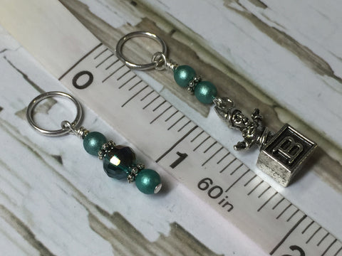 Jack in the Box Stitch Marker Set , Stitch Markers - Jill's Beaded Knit Bits, Jill's Beaded Knit Bits  - 6