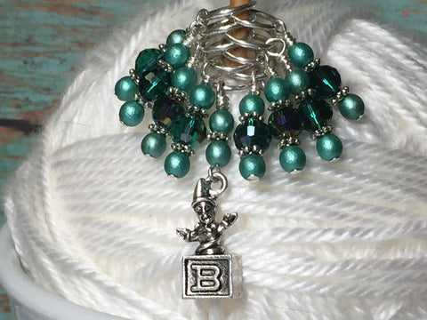 Jack in the Box Stitch Marker Set , Stitch Markers - Jill's Beaded Knit Bits, Jill's Beaded Knit Bits  - 1
