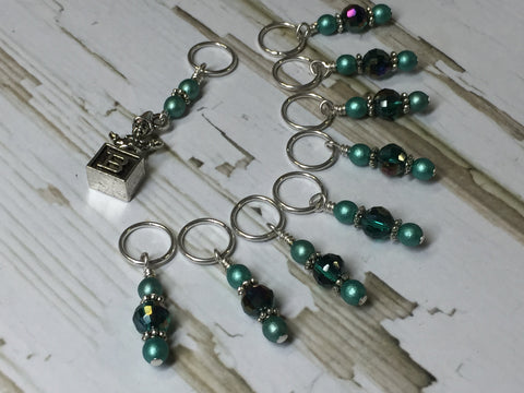 Jack in the Box Stitch Marker Set , Stitch Markers - Jill's Beaded Knit Bits, Jill's Beaded Knit Bits  - 3