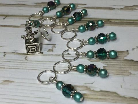 Jack in the Box Stitch Marker Set , Stitch Markers - Jill's Beaded Knit Bits, Jill's Beaded Knit Bits  - 5