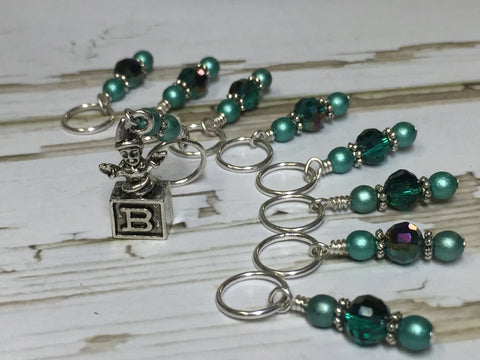 Jack in the Box Stitch Marker Set , Stitch Markers - Jill's Beaded Knit Bits, Jill's Beaded Knit Bits  - 2