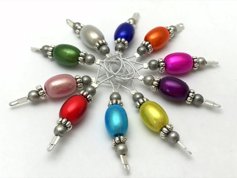 Snag Free Jelly Bean Wire Loop Stitch Marker Set- Knitting Gift