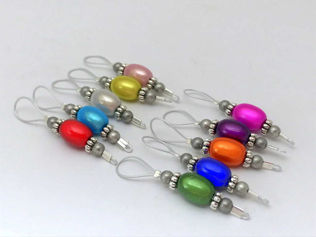 Jelly Bean Wire Loop Stitch Marker Set- Knitting Gift – Jill\'s ...