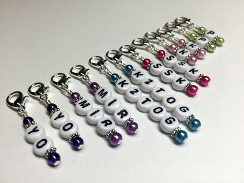 Knitting Instructions Stitch Marker Set- Pattern Helpers , Stitch Markers - Jill's Beaded Knit Bits, Jill's Beaded Knit Bits  - 1