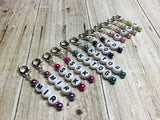 Knitting Instructions Stitch Marker Set- Pattern Helpers , Stitch Markers - Jill's Beaded Knit Bits, Jill's Beaded Knit Bits  - 10