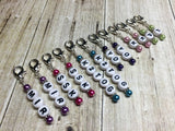 Knitting Instructions Stitch Marker Set- Pattern Helpers , Stitch Markers - Jill's Beaded Knit Bits, Jill's Beaded Knit Bits  - 2