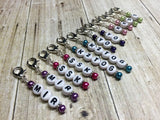 Knitting Instructions Stitch Marker Set- Pattern Helpers , Stitch Markers - Jill's Beaded Knit Bits, Jill's Beaded Knit Bits  - 3