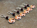 Lady Cat Stitch Markers for Knitting