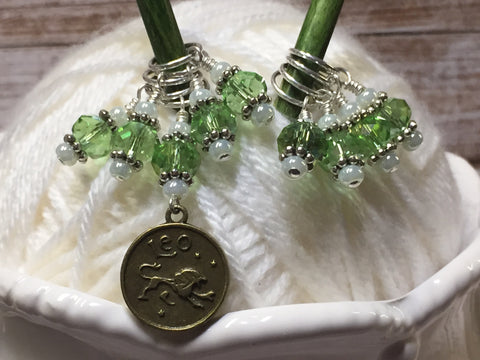 Zodiac Stitch Marker Set- Leo- Gift for Knitters