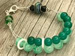 Kelly Green Abacus Counting Bracelet | Row Counter