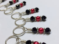 Lobster Stitch Marker Set for Knitting or Crochet , Stitch Markers - Jill's Beaded Knit Bits, Jill's Beaded Knit Bits  - 5