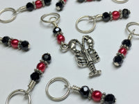 Lobster Stitch Marker Set for Knitting or Crochet , Stitch Markers - Jill's Beaded Knit Bits, Jill's Beaded Knit Bits  - 4