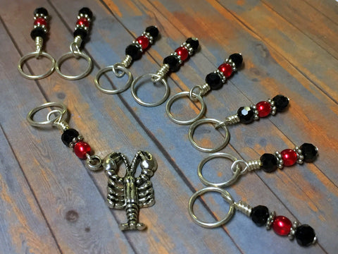 Lobster Stitch Marker Set for Knitting or Crochet , Stitch Markers - Jill's Beaded Knit Bits, Jill's Beaded Knit Bits  - 2