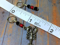 Lobster Stitch Marker Set for Knitting or Crochet , Stitch Markers - Jill's Beaded Knit Bits, Jill's Beaded Knit Bits  - 7