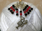 Lobster Stitch Marker Set for Knitting or Crochet , Stitch Markers - Jill's Beaded Knit Bits, Jill's Beaded Knit Bits  - 3